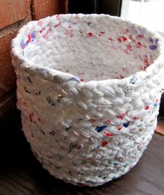 Put your braiding and sewing skills to work by making one of these funky baskets.