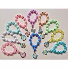 Denario Porfis Rosario Comunión Bautismo Nacimiento - $ 21,00 Handmade Beaded Jewelry, Diy Jewelry, Jewlery, Catholic Christening, Holy Rosary, Diy Gifts, Beading, Lisa, Beaded Bracelets