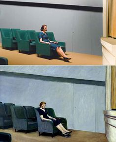 13 Edward Hopper Paintings Are Recreated As Sets For Indie Film Shirley Visions Of Reality Shirley And Hopper 8 Iihih Architecture Tattoo, Art And Architecture, Shirley Visions Of Reality, Edward Hopper Paintings, Tableaux Vivants, Sitting Poses, Galerie D'art, Animal Design, Impressionism