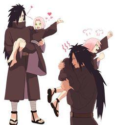 Madara and Sakura Madara Uchiha, Sasuke Uchiha, Anime Naruto, Naruto Cute, Naruto Sasuke Sakura, Gaara, Boruto, Shikatema, Naruhina