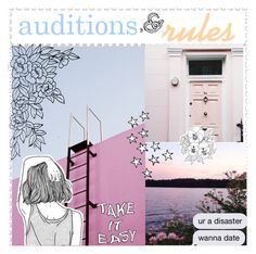 """AUDiTiONS"" by halcyon-tippers ❤ liked on Polyvore featuring art, halcyontippersshowcase, halcyontippersaudition and peachesexamples"