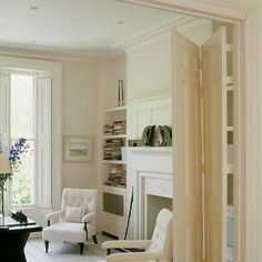 Ideas Seating Area In Living Room Doors For 2019 Partition Door, Room Divider Doors, Room Doors, Room Dividers, Living Room Interior, Home Living Room, Living Room Designs, Living Spaces, Living Room Knock Through