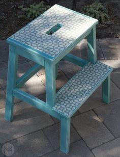 DIY Fabric Step Stool |