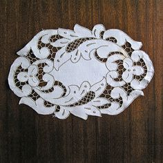 Vintage cutwork embroidery 1950s, richelieu embroidery, doily Napkin, Handmade, Housewares Home Decor,hand embroidered White Canvas,MyWealth