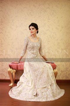 Beautiful Pakistani bride in white wedding outfit | Irfan Ahson Photos