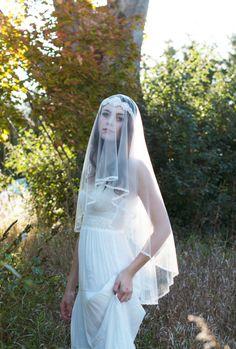 doris crystal headband with veil