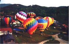 I could #ridecolorfully in Helen, GA at the Helen-Atlantic Hot Air Ballon Race