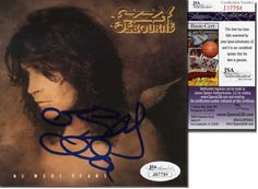 """OZZY OSBOURNE Hand Signed CD Booklet """"No More Tears"""" - JSA COA - UACC RD#289 in Collectibles, Autographs, Music 