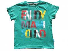Maat 98/104 T-shirt Groen met tekst print  Merk LCKR