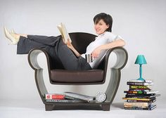 Hollowed Out Reading Chair