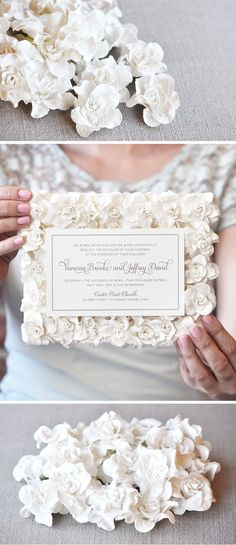 This wedding season, stop and admire the roses - featuring romantic paper flowers, the Vanessa Invite from Engaging Papers is a perfect addition to your uniquely luxurious day.