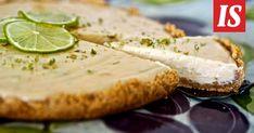 Tuore leivontakirja esittelee kolmen ainesosan herkkuohjeita. Raikas limepiirakka on helppo tehdä. Camembert Cheese, Dairy, Baking, Sweet, Desserts, Food, Candy, Tailgate Desserts, Bakken