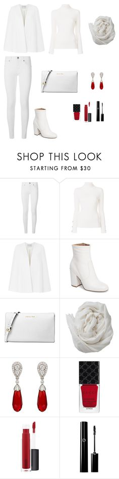 """""""Untitled #449"""" by ladyasdis ❤ liked on Polyvore featuring Burberry, See by Chloé, Amanda Wakeley, Steve Madden, Michael Kors, Brunello Cucinelli, McTeigue & McClelland, Gucci, John Lewis and totalwhite"""