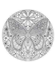Butterfly adult colouring
