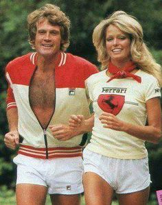'70's Power Couple, Lee Majors & Farrah Fawcett. The actual day they peaked.