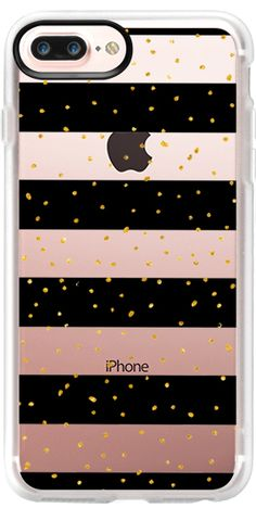 Casetify iPhone 7 Plus Case and iPhone 7 Cases. Other Polka Dot iPhone Covers - Black White Gold by Pink Water | Casetify