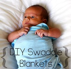 Save some money and make these DIY Swaddle Blankets for the babies in your life! #baby #diy