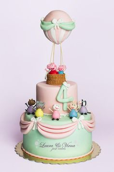 Peppa pig and Friend cake