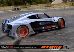 'Hydra - Track' is my Track entry into the GrabCAD 500 Group Supercar Body Challenge 2013.