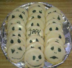 Nightmare before christmas Sugar cookies, icing that hardens, food pen :-)