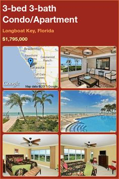 3-bed 3-bath Condo/Apartment in Longboat Key, Florida ►$1,795,000 #PropertyForSale #RealEstate #Florida http://florida-magic.com/properties/5395-condo-apartment-for-sale-in-longboat-key-florida-with-3-bedroom-3-bathroom