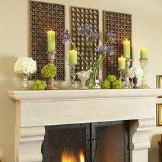 Mantle arrangement with Lattice Background