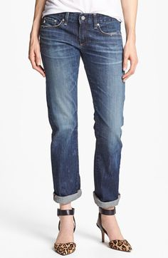 AG Jeans 'The Tomboy' Relaxed Straight Leg Jeans (8 Years Escape) available at #Nordstrom