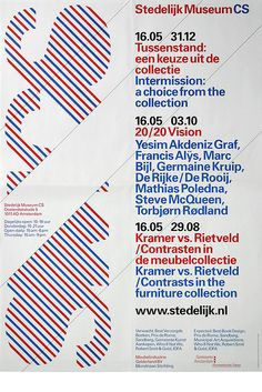 Stedelijk Museum CS - Various printed matter by Experimental Jetset Type Posters, Graphic Design Posters, Graphic Design Typography, Graphic Design Inspiration, Modern Typography, Web Inspiration, Poster Designs, Layout Design, Print Design