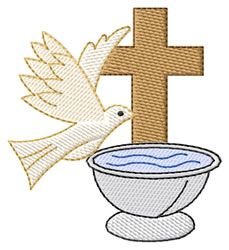 Signs and Symbols Embroidery Design: Baptism Logo from Grand Slam Designs
