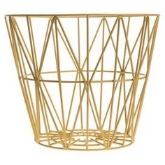 """Openwork iron wire basket.   Product: BasketConstruction Material: Iron wireColor: YellowFeatures:  Modern styleWill enhance any settingDimensions: Small: 35"""" Diameter  Medium: 40"""" Diameter  Large: 45"""" Diameter"""