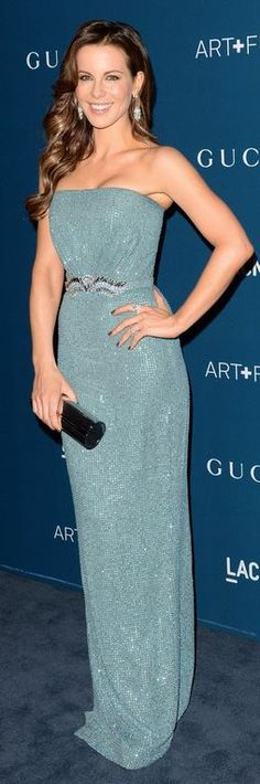 Kate Beckinsale: Dress – Gucci  Purse – Jimmy Choo  Jewelry – Neil Lane