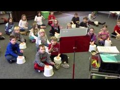 "Rhythm Reading - Bucket Drumming body involvement in music making  a ""drum clap"""