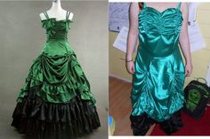 These dresses are not even similar. Do not buy online for your special gown!