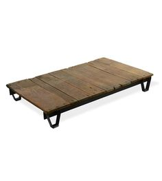 The pallet trend is here to stay (but be sure to read my post about testing for toxic pallets before you bring one into your home!), but Keith takes it to a new level by repurposing vintage pallets into storied coffee tables that have a great patina and sense of time.