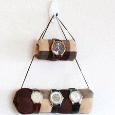 Make this hanging organizer to hold all of Dad's watches. #FathersDay #DadsTheMan
