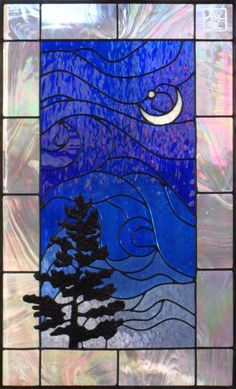 Morning Star. Very effective use of lines to indicate wind...'customstainedglassart.com' <3<3<3