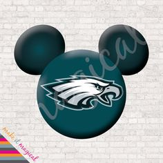 Philadelphia Eagles football with Mickey Mouse INSTANT DOWNLOAD ...