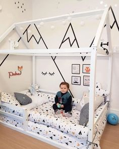 Childrens Room Home Decoration Small Room Wall Painting Home Design Li Boy Toddler Bedroom, Toddler Rooms, Baby Bedroom, Baby Boy Rooms, Baby Room Decor, Kids Bedroom, Toddler Beds For Boys, Toddler Boy Room Ideas, Baby And Toddler Shared Room