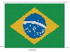 bandeira brasil para ponto cruz ou crochê
