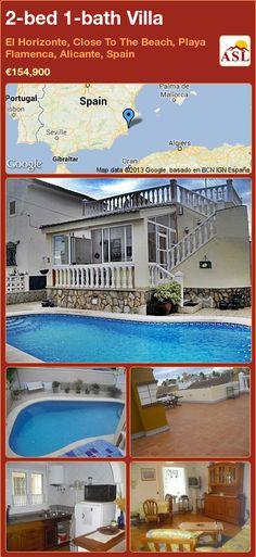 2-bed 1-bath Villa in El Horizonte, Close To The Beach, Playa Flamenca, Alicante, Spain ►€154,900 #PropertyForSaleInSpain