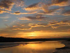 Sunset over the River Teign, Devon