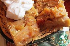 Яблочный пирог в сливках - кулинарный рецепт