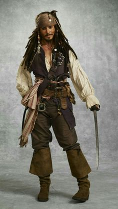 When Patrick was he was kidnapped by Irish Pirates and brought over to Ireland as a slave. This is recorded in St. Patricks Confessio, an autobiographical letter. Jack Sparrow Cosplay, Jack Sparrow Costume, Jack Sparrow Fantasia, Jack Sparrow Wallpaper, John Deep, Pirate Cosplay, Here's Johnny, Pirate Life, Halloween Disfraces