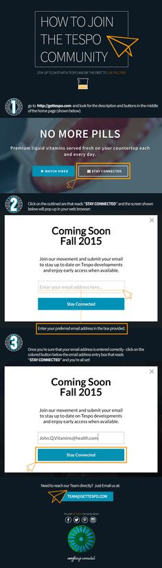 How to join Tespo's pre-launch subscriber list - give your contact, recieve special offers!  #GetTespo #NoMorePills #Tespo #LivePillFree #Vitamins #LiquidVitamins