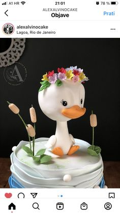 Beautiful Birthday Cakes, Beautiful Cakes, Amazing Cakes, Cake Topper Tutorial, Cake Toppers, Cupcakes, Cupcake Cakes, Baby Birthday Cakes, Animal Cakes