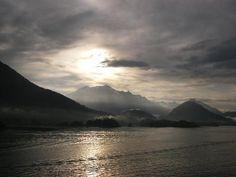 Bay at dawn at Sitka, Alaska