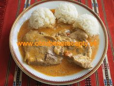 Stew, Mashed Potatoes, Nom Nom, Food And Drink, Meat, Chicken, Ethnic Recipes, Fine Dining, Whipped Potatoes