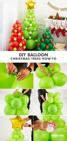 The Green Balloon Christmas Tree Kit includes balloons, two kegs of curling ribbon, and a gold star foil balloon. Decorate for a Christmas gathering with this balloon kit. Christmas Tree Kit, Christmas Balloons, Xmas Tree, Family Christmas, Christmas Crafts, Christmas Photos, 50th Birthday Party Decorations, Christmas Party Decorations, Balloon Decorations