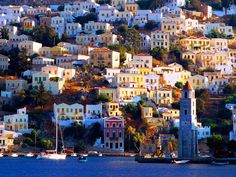 Harbor Town of Yialos, Island of Symi, Greece