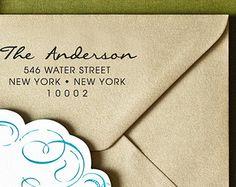 Address Stamp H129 Custom Return Address Stamp Self Inking Stamp Housewarming Gift Wedding Address Stamp